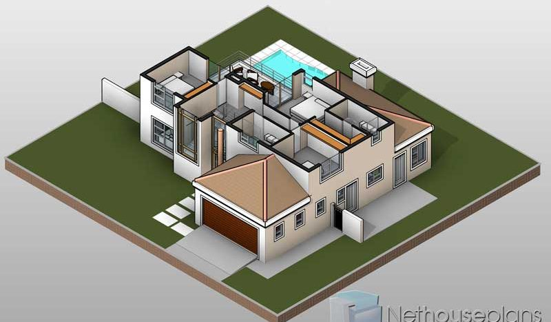 3 Bedroom house plans South Africa T252D First Floor Plan Nethouseplans 800x467 - Get Modern 3 Bedroom House Plans South Africa Pdf PNG