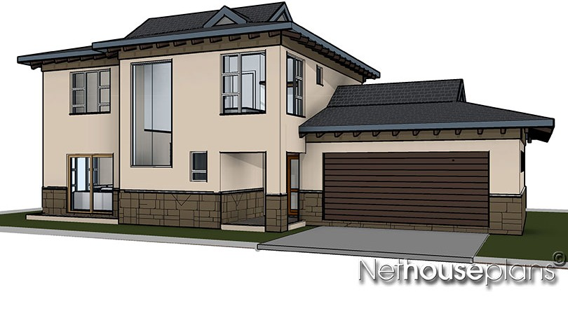 Bali style house plan, 3 bedroom , double storey floor plans, house plans