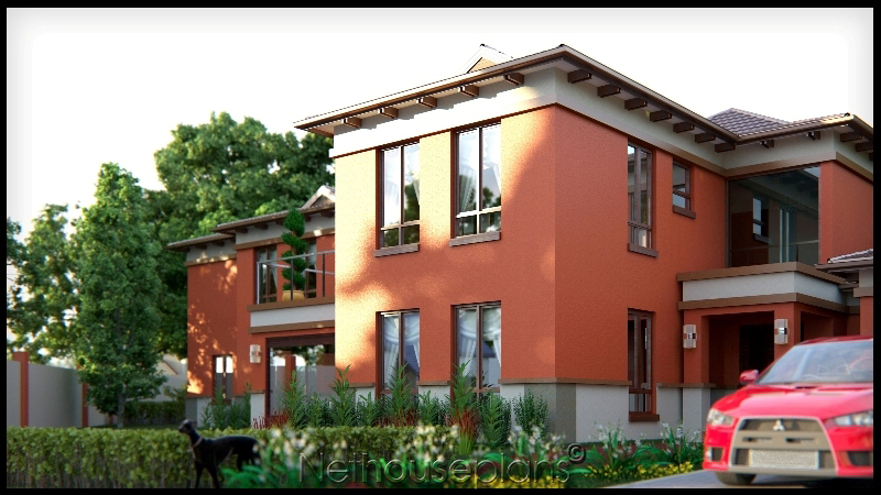 house plans south africa 5 Bedroom double storey home in colour image by Net house plans south africa