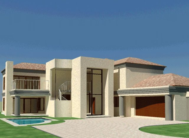 4 bedroom house plan, double storey House plans south africa, Nethouseplans, South AFrican modern house plans, Beautiful 4 Bedroom house plan with double garages, South African double story 4 bedroom house plans, Nethouseplans