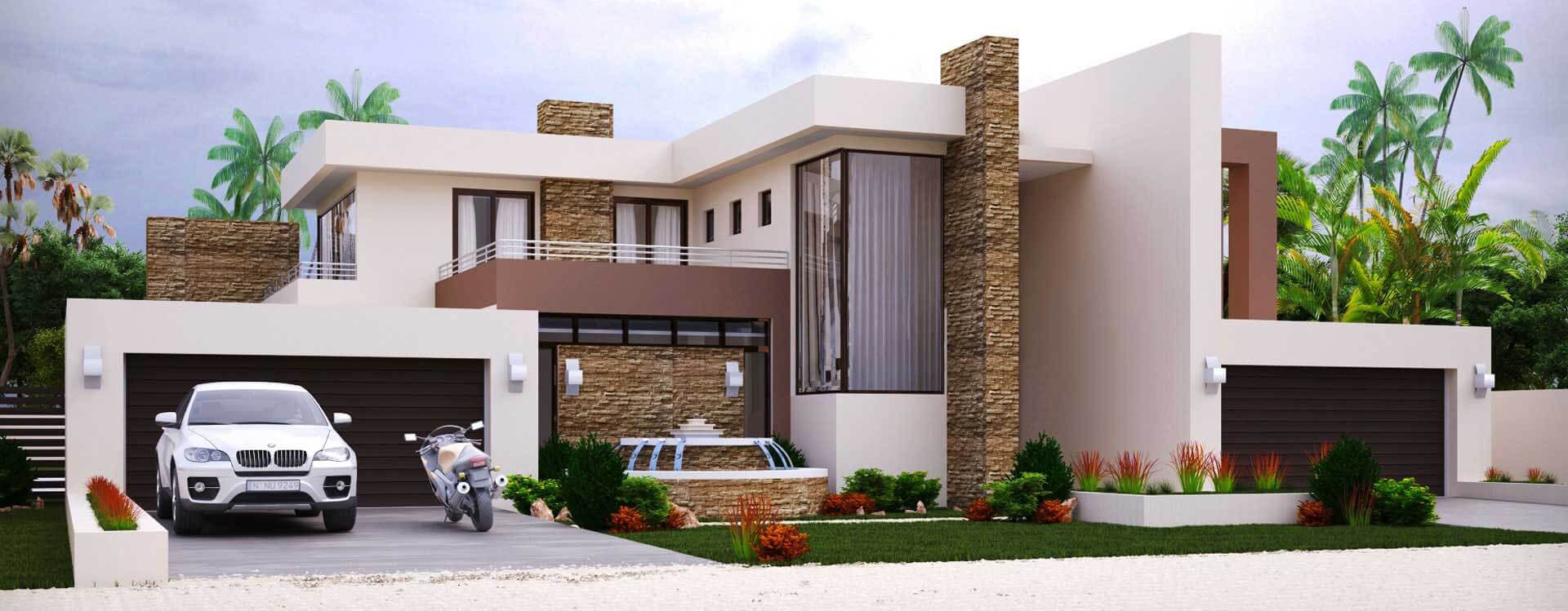 4 Bedroom Modern House Plans | Modern House Designs ...