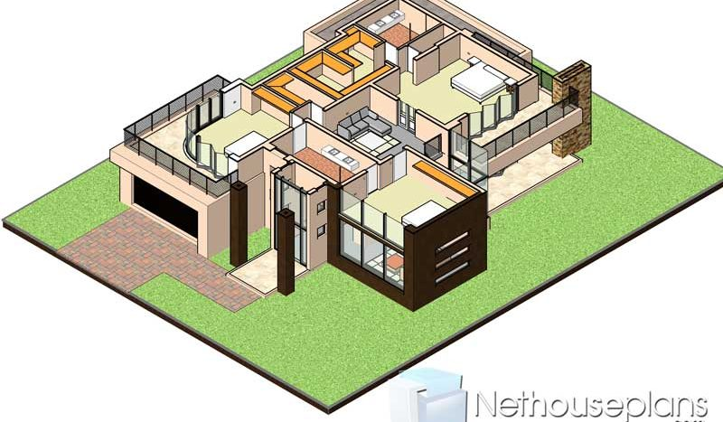 house plans south africa house designs south africa, house plans south africa, South African House Designs, Modern contemporary style, 4 bedroom house plan, double storey floor plans.