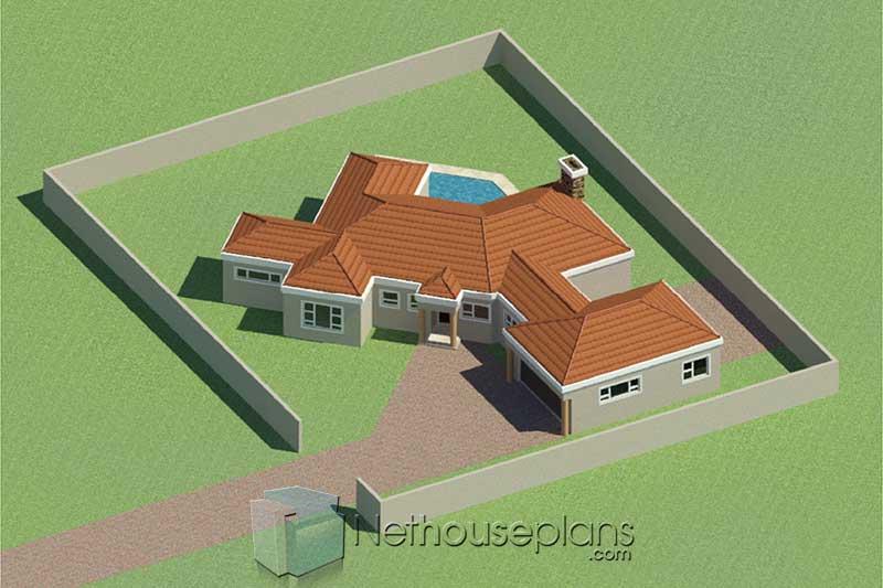 Simple house designs 3 bedroom single storey house plan designs with photos simple house design small house plans simple 3 bedroom house plans Tuscan house design South Africa modern house designs Nethouseplans