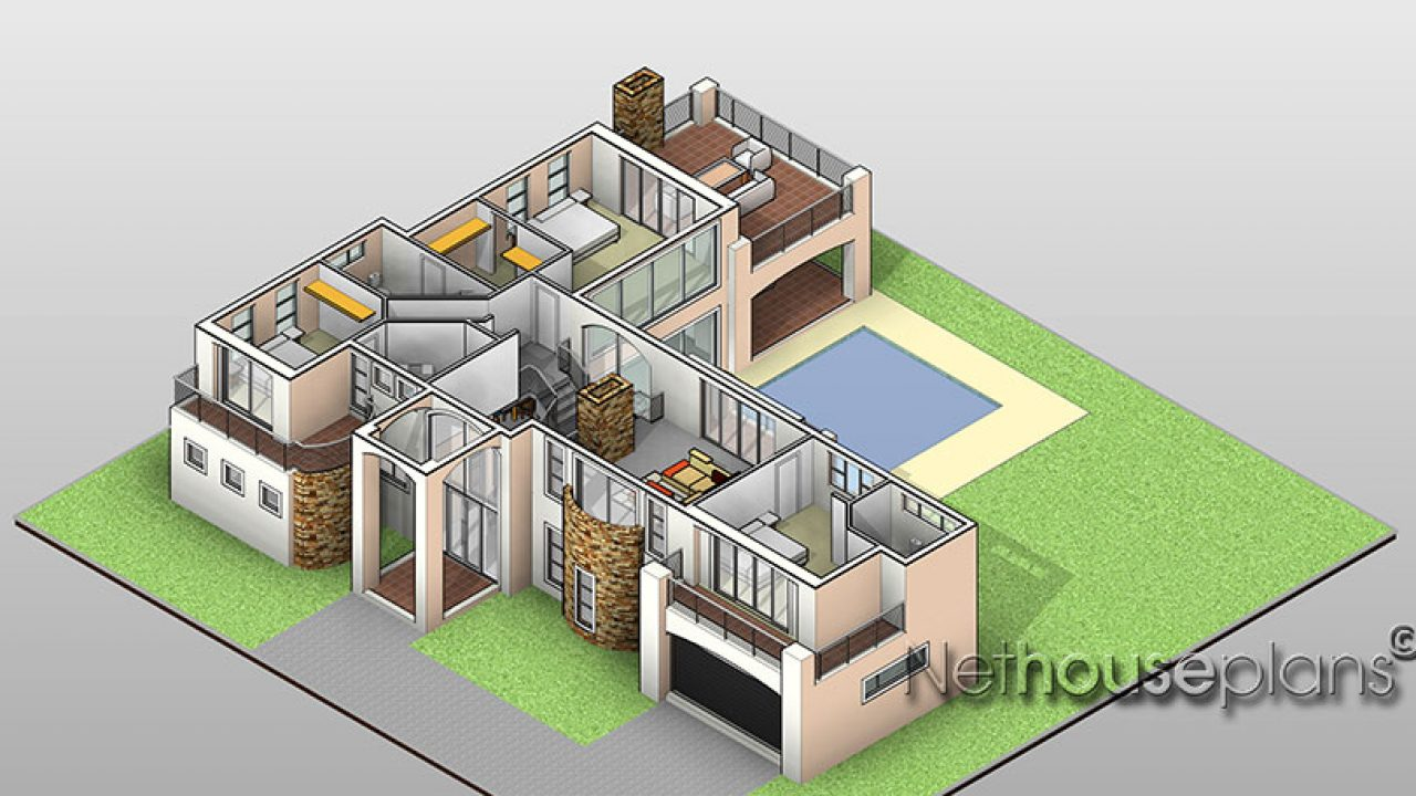 417m2 3 bedroom house plan south african designs nethouseplansnethouseplans 417m2 3 bedroom house plan south