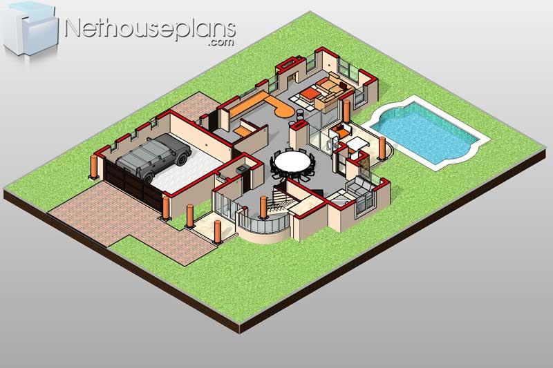 Unique-3-Bedroom-house-plans-South-Africa_T292D_Ground ...