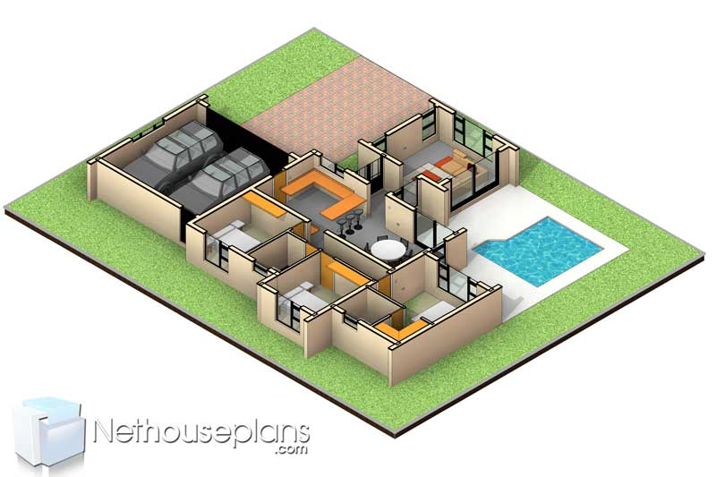 3 bedroom house plans South Africa single storey house plans house floor plans with photos 3 bedroom house designs architecture designs 3 bedroom house plans with garages unique 3 bedroom house plans for sale Nethouseplans