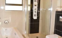 renovate bathroom, building plans, floor plans, shower, bath tub, toilet, floor tiles nethouseplans.com