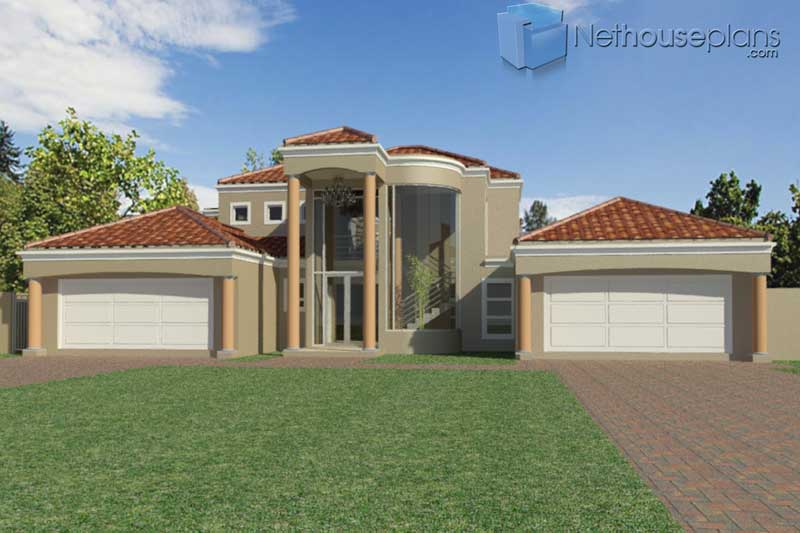 5-Bedroom-house-plans-in-Limpopo_T475D_Front-Entry-View ...
