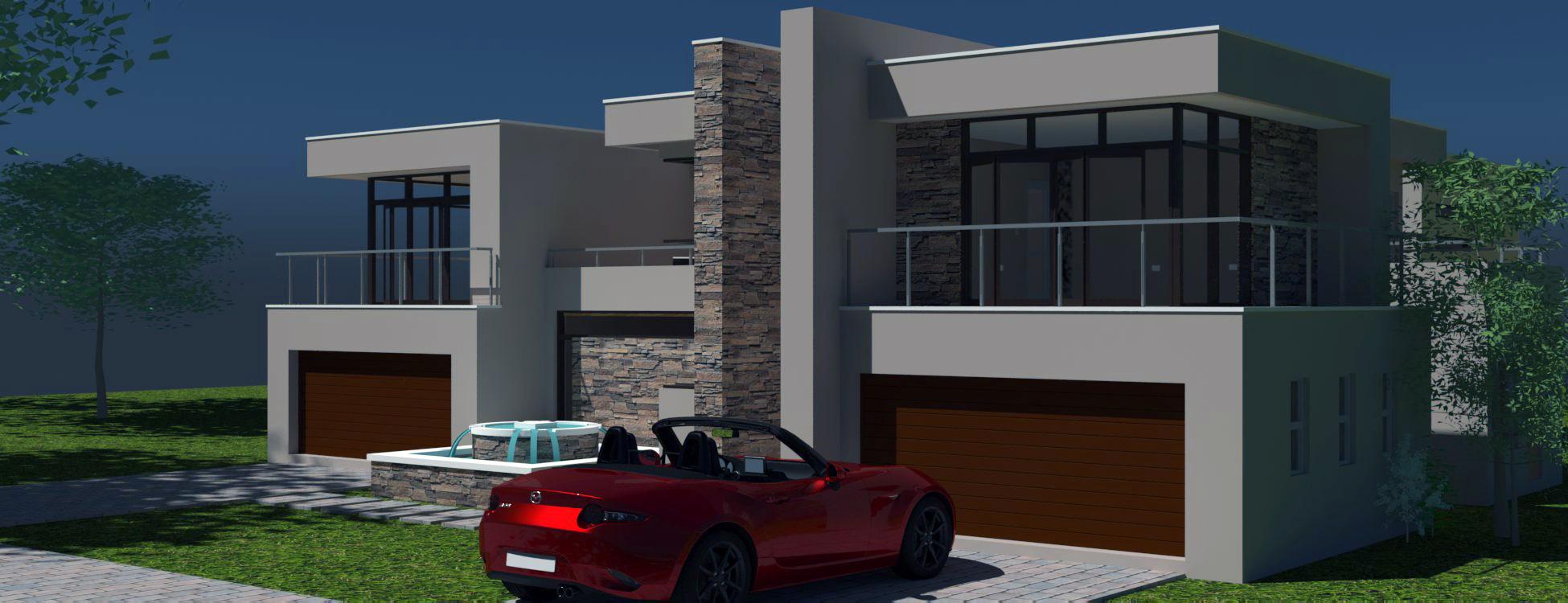 4 Bedroom House Plan Modern Double Story Floor Plan Nethouseplans