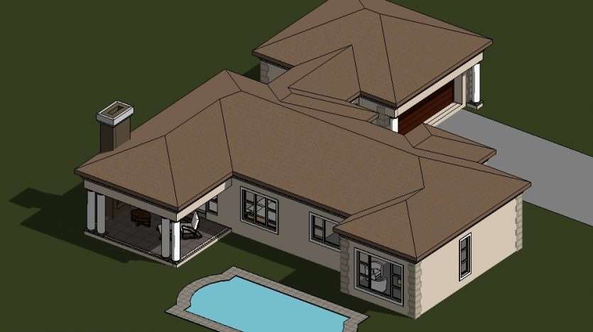 Four Bedroom House Plan with photos, Single storey house design, 189sqm house design, South Africa, one storey house design with a patio, Nethouseplans