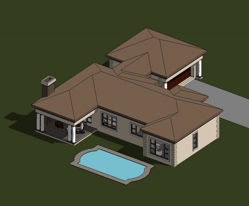 Four Bedroom House Plan Drawing For Sale One Storey