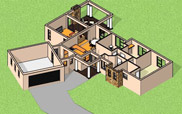 3 bedroom house plan with photos, 207sqm floor plan house design, nethouseplans, South Africa, three Bedroom House plan, single storey house design, Nethouseplans, South Africa, Fourways