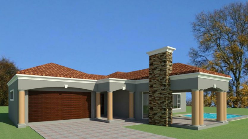 3 bedroom house plan design in South Africa, single storey house plan design, Tuscan building plan, Tuscan architecture design, three bedroom single storey house plan, House Plans South Africa modern house plans, 1 story house designs plans; 198 sq meter modern 3 bedroom home design; house plans pdf downloads; tiny house plans; Nethouseplans