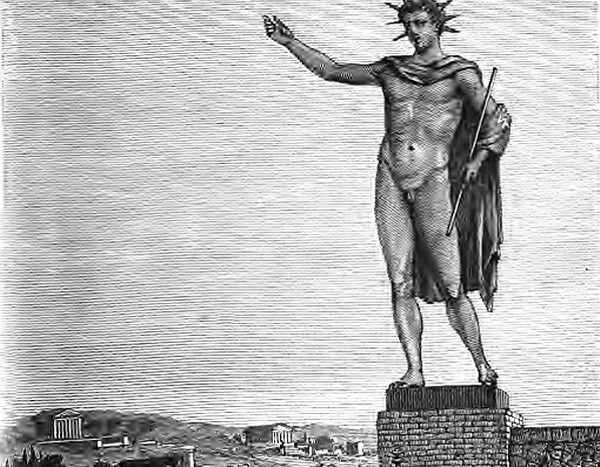 Colossus of rhodes, ancient structures, nethouseplans