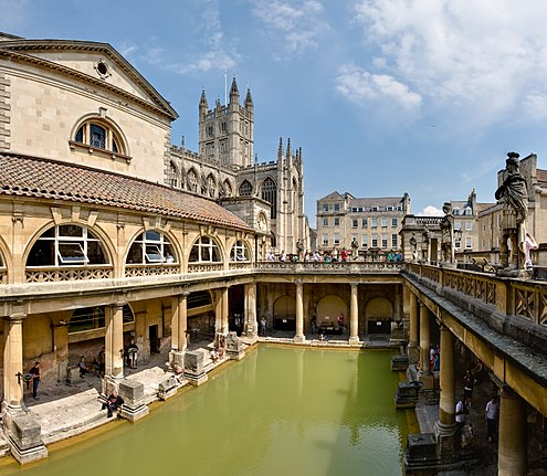 roman baths, bath england, ancient structures, nethouseplans