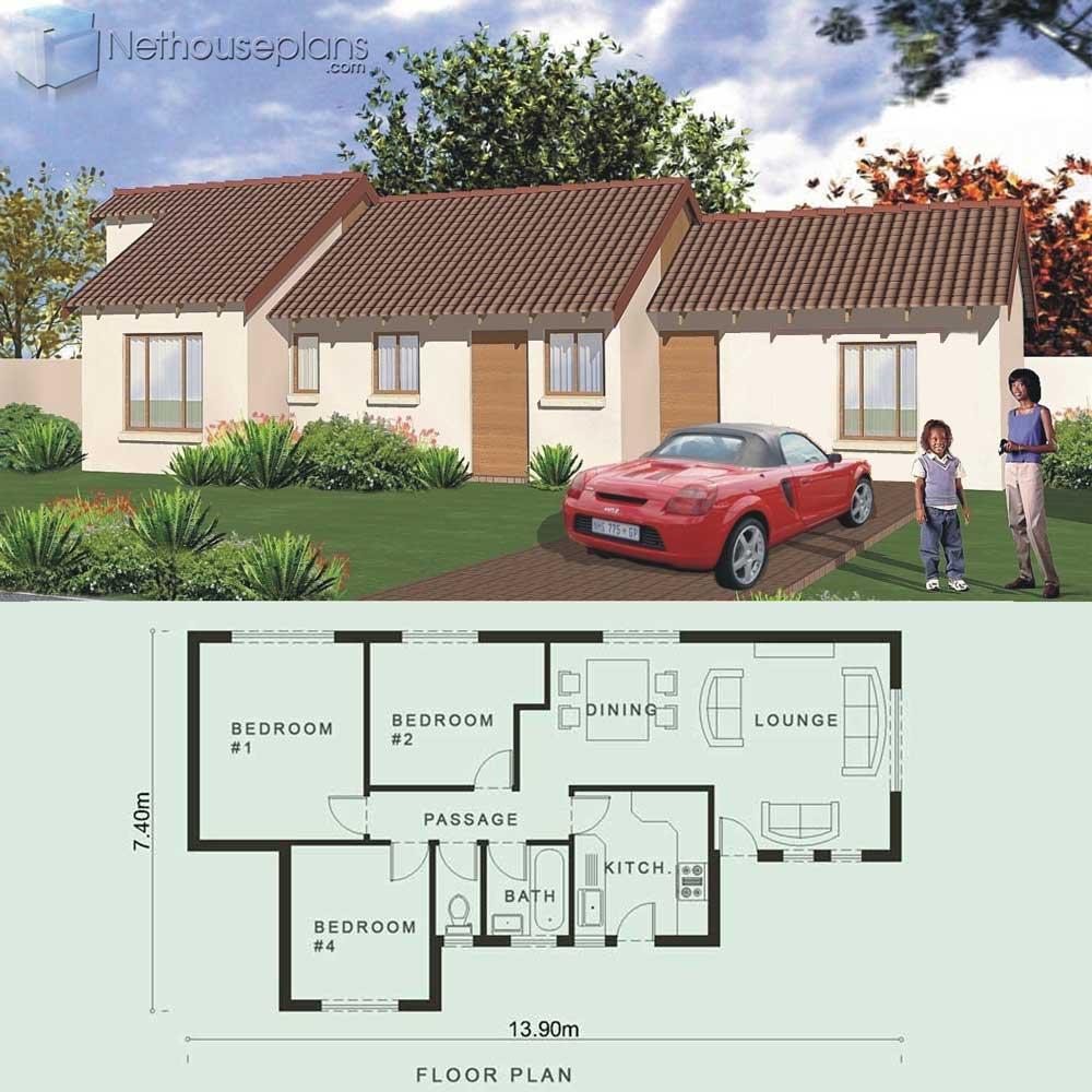 Home Design Ideas Free Download: Modern 3 Bedroom House Plans [80sqm] PDF Download