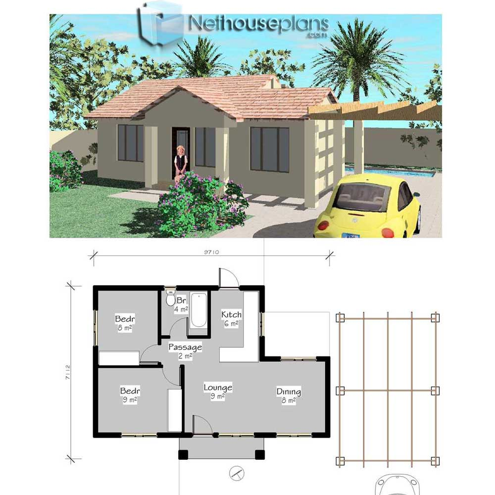 Free House Plans Downloads | 2 Bedroom
