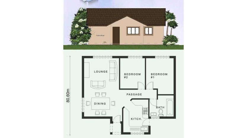 Tiny House plans, Tiny house floor plans, 2 bedroom tiny house plans, Tiny House plan design with photos, Nethouseplans