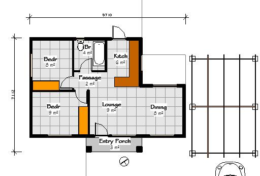 small house plans_Free house plans pdf doawnloads_tiny house plans_house floor plans_Nethouseplans_LC55_