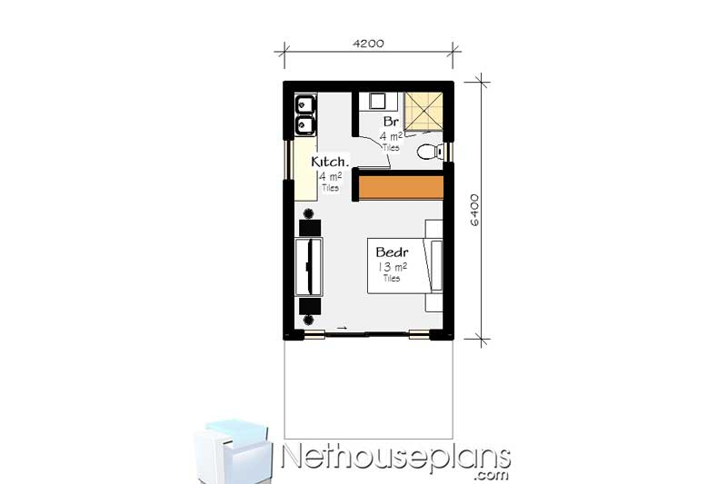1 Bedroom House Plan PDF South Africa | House Designs ...